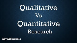 Qualitative Vs Quantitative Research: Difference between them with examples & methods thumbnail