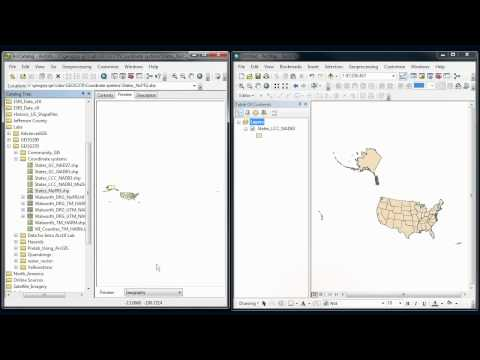 ArcGIS - Coordinate systems # 2 - Defining