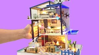 DIY BARBIE DREAM HOUSE ~ Barbie Three-STOREY DOLLHOUSE with SWIMMING POOL