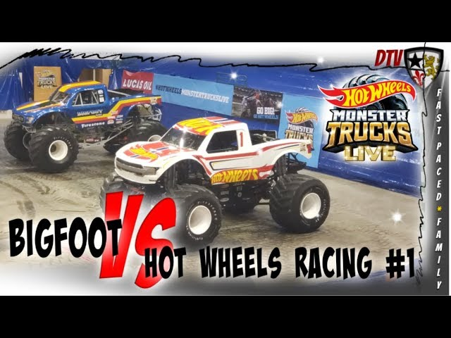 Bigfoot Vs Hot Wheels Racing 1 Hot Wheel Monster Trucks Live Racing Cleveland Ohio 2019 Youtube