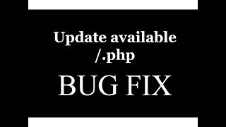 Update available /.php