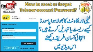 How to Reset or Forget Telenor Account Password 2017