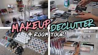 MAKEUP COLLECTION DECLUTTER + FILMING ROOM TOUR!