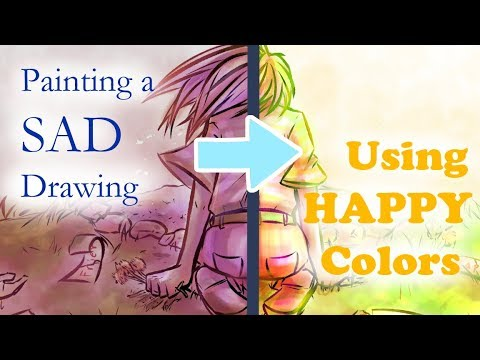 Making A SAD Drawing With HAPPY Colors