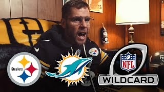 Dad Reacts to Steelers vs Dolphins 2017 Wildcard Game