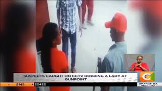Gang captured on CCTV camera robbing a woman in Mombasa arrested