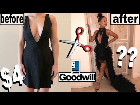 DIY THRIFT STORE PROM DRESS MAKEOVER!
