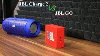 JBL Charge 2 vs JBL go Bluetooth speaker sound/bass test