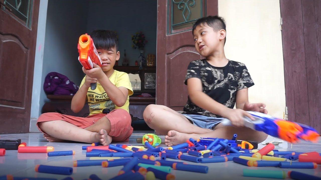 Đồ Chơi Bắn Súng Nerf - Cuộc Chiến Súng Nerf Nhận Tiền - Money Battle Shot - Nerf Gaming
