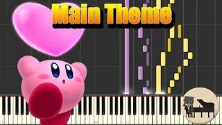 🎵 Main Theme - Kirby Star Allies [Piano Tutorial] (Synthesia) HD Cover