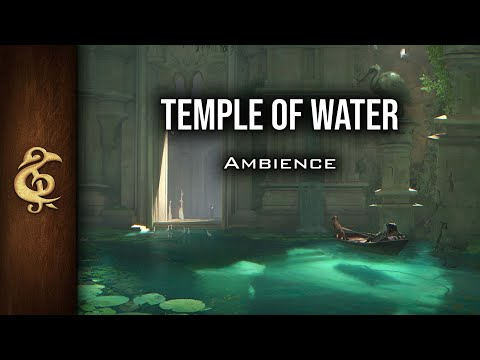 D&D Ambience   Temple Of The Water   Holy, Waterfalls, Baths, Magic, No Voice, Mystery