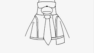 Club Penguin On Paint - Drawing Jet Pack Guy