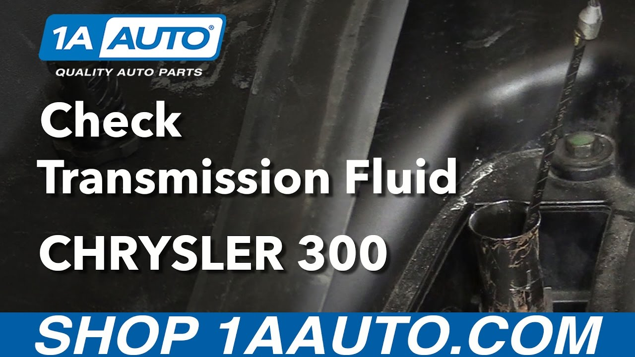 how to check transmission fluid level without going to dealership 2006 11 chrysler 300 [ 1280 x 720 Pixel ]