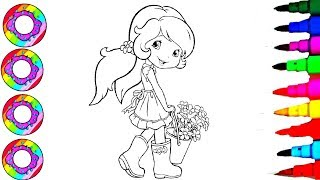Colouring Drawings Sheet Strawberry Shortcake with Sparkle Gumboots Coloring Sheets Coloring Pages