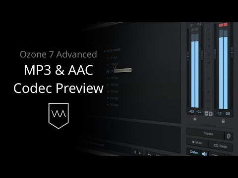 MP3 & AAC Codec Preview in iZotope Ozone 7