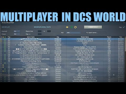 How To Choose & Join A Multiplayer Server In DCS WORLD