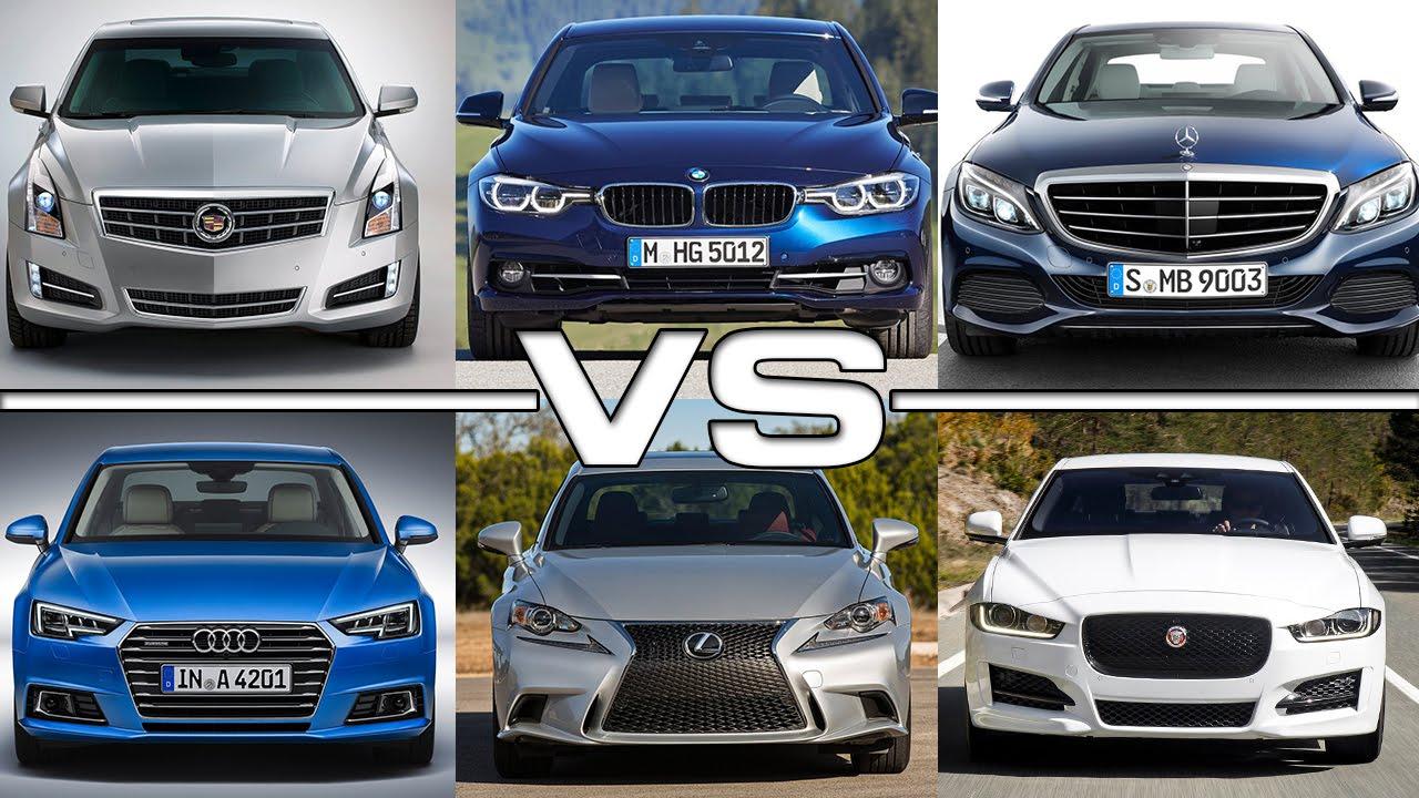cadillac ats vs bmw 3 ser vs mercedes c-class vs audi a4 vs lexus is
