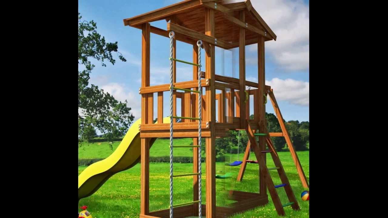 Детский спортивный комплекс на даче своими руками - YouTube