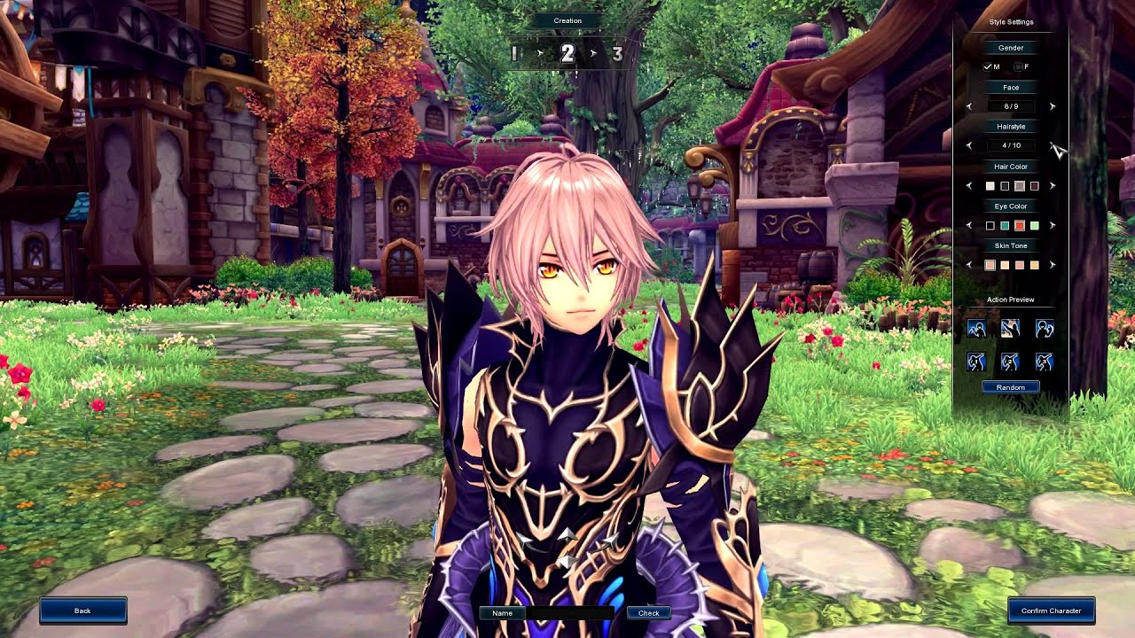 Aura Kingdom Gameplay Character Creation Youtube