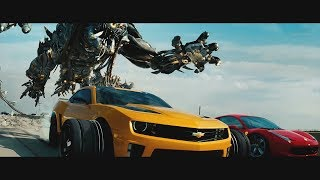 Transformers: Dark of the Moon (2011) - Freeway Chase - Only Action [4K]