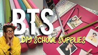 DIY BTS BACK-TO-SCHOOL SUPPLIES! | LaurynnAshley