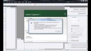 Adobe Captivate could not open - How to recover project