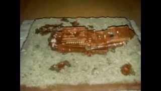 моя модель титаника после крушения(Это видео создано в редакторе слайд-шоу YouTube: http://www.youtube.com/upload., 2013-09-10T17:52:56.000Z)