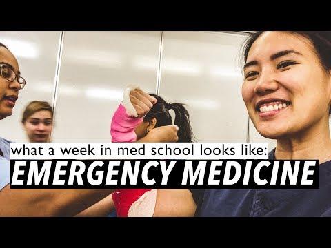 what a week in med school looks like: EMERGENCY MEDICINE
