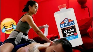 """ELMERS GLUE MASSAGE PRANK"" ON CRUSH!!!"