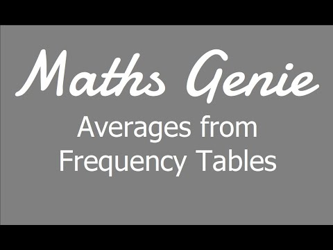 Download Averages from Frequency Tables (including Estimating the Mean)