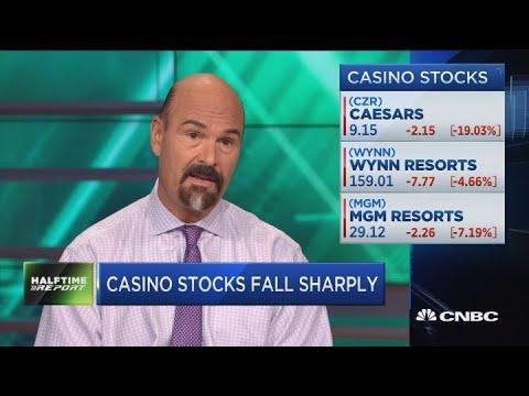 Casino stocks fall sharply after Caesars halted