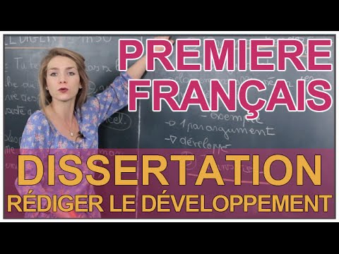 Dissertation francais