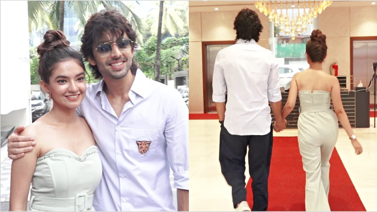 Anushka Sen & Himansh Kohli Gives Couple Pose In Front Of Media And Promoting Their New Song