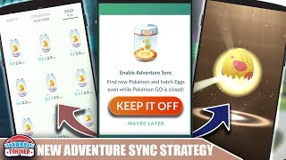 How To Trigger Egg Hatching On Command! New Adventure Sync Hatch Strategy | PokÉmon Go