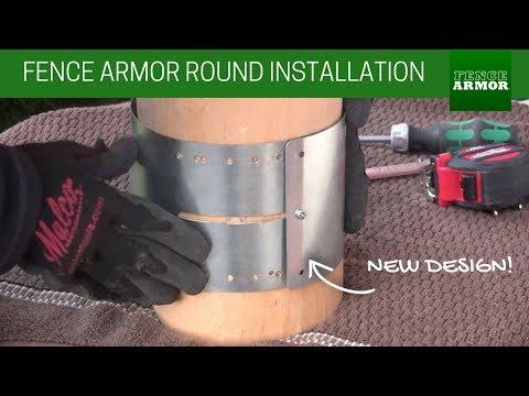 Fence Armor Round Rural Installation - Galvanized Steel (New Design)