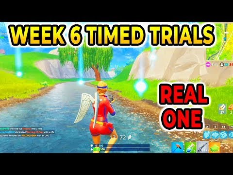 """Complete Timed Trials"" Guide Locations Fortnite Season 5 Week 6 Challenges!!!"
