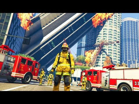 GTA 5 Mods - PLAY AS A FIREFIGHTER MOD!! GTA 5 Firefighter P