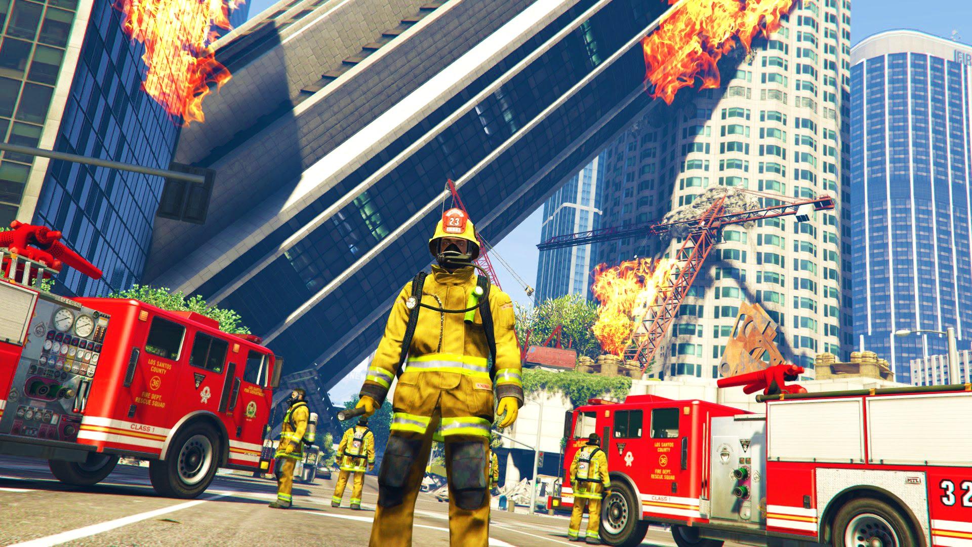GTA 5 Mods - PLAY AS A FIREFIGHTER MOD!! GTA 5 Firefighter Patrol Mod! (GTA  5 Mods Gameplay)