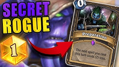This SECRET ROGUE DECK hit #1 LEGEND in Standard NA Hearthstone!