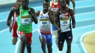 Kirani James wins mens 400m Gold Medal 2012 London Olympics