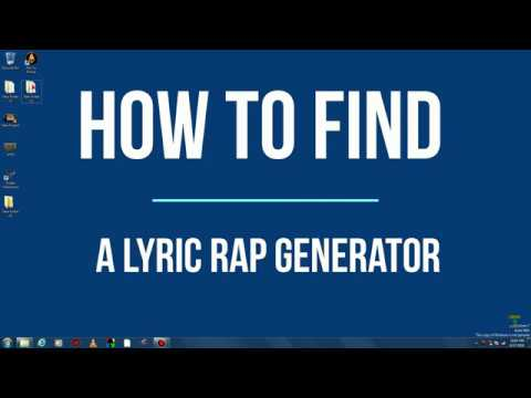 Ways to learn how to rap with lyrics on this generator
