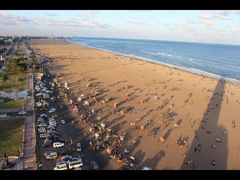 World's longest beach - Marina Beach Chennai | Cyclone - India
