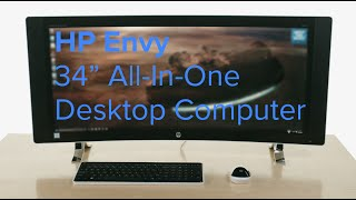 HP ENVY Black Curved All-In-One Desktop Computer 34-A010 - Overview