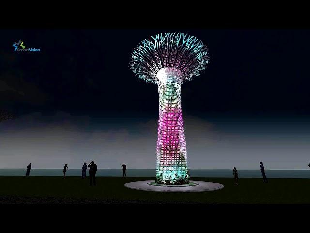 Chiếu sáng nghệ thuật - Kiến trúc - Cảnh quan - Building - Biểu diễn ánh sáng theo nhạc