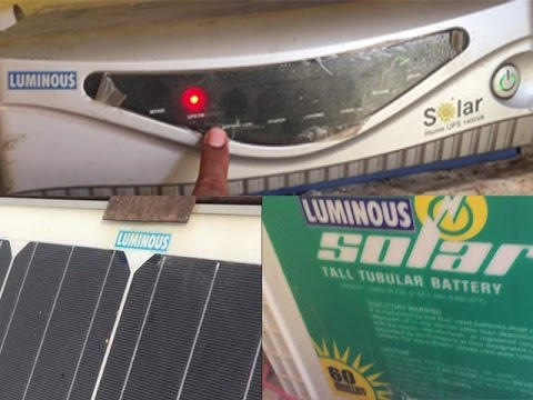 luminous solar system price review and specification after 3 year hindi
