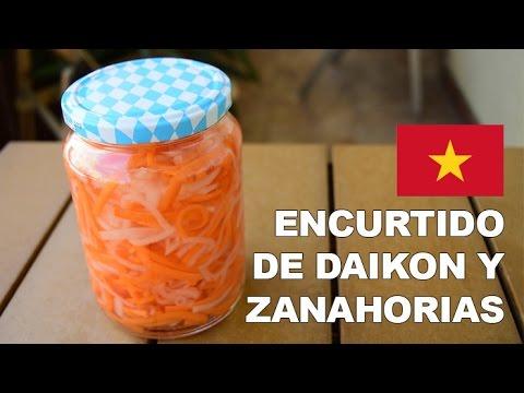 Encurtido de daikon y zanahoria chua youtube - Encurtido de zanahoria ...