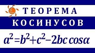 Теорема косинусов с доказательством