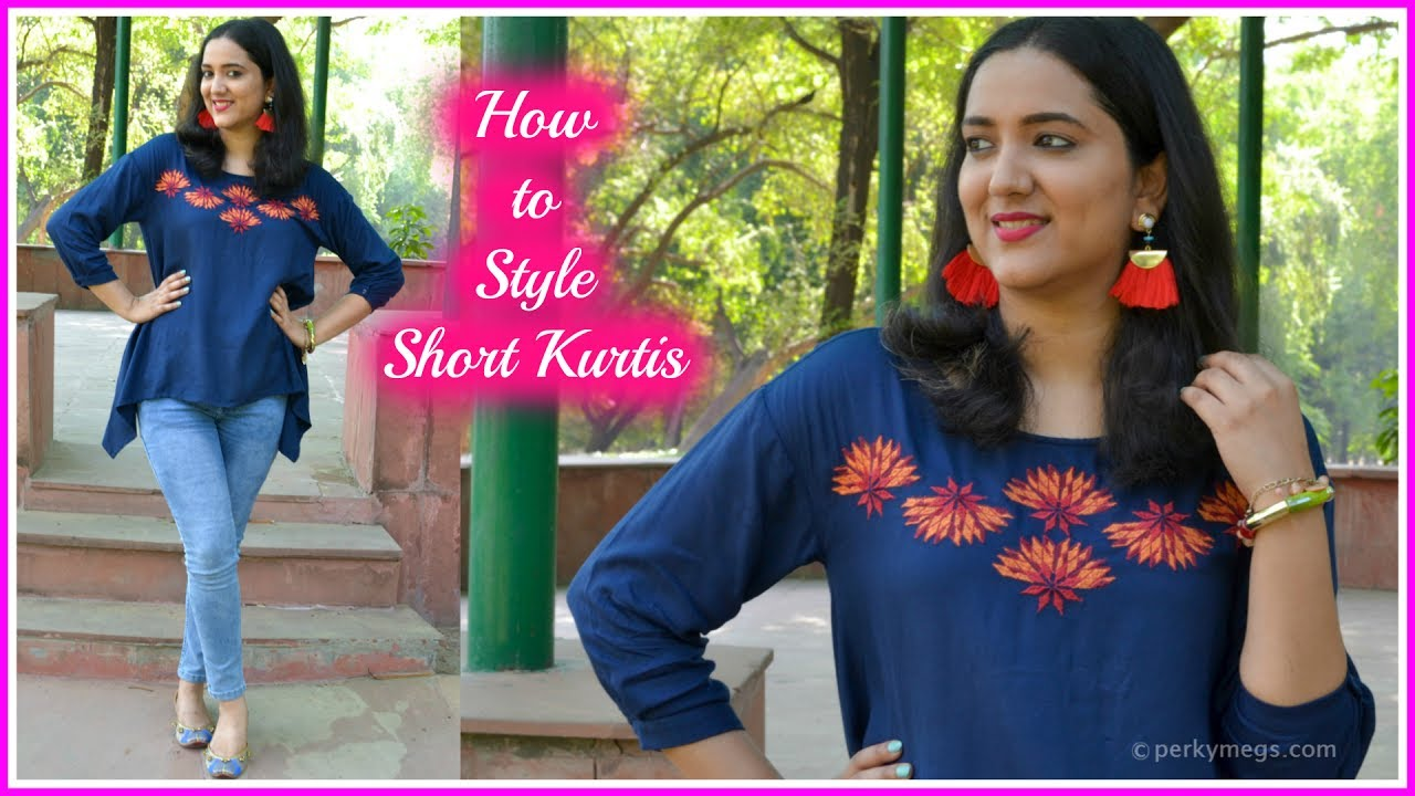 5e24c9d09ef 4 Ways to Style Short Kurtis | Indian Ethnic Wear | Perkymegs - YouTube