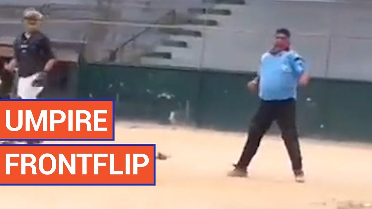 Amazing Umpire Front Flip | Daily Heart Beat