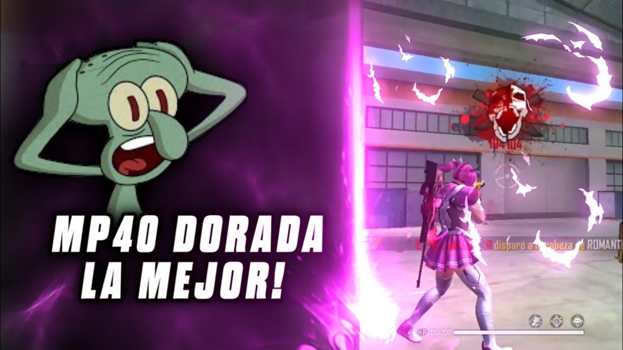 """PROBANDO LA MP40 DORADA """"Me encontré un Sakura"""" Free Fire"""